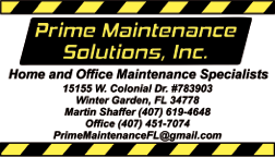 **** Prime Maintenance Solutions, Inc - Bronze Partner
