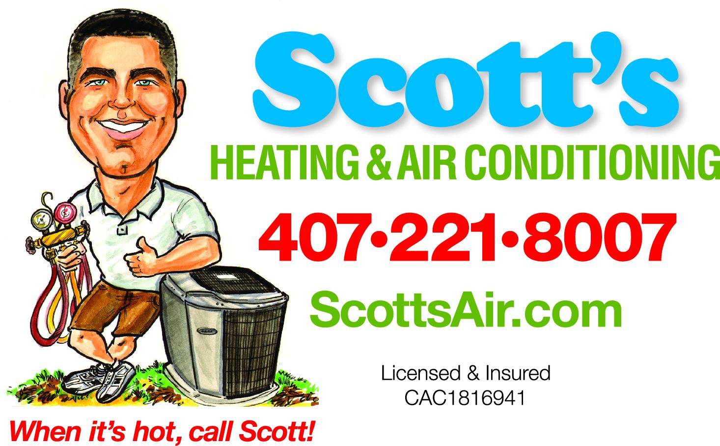* Scott's Heating & Air Conditioning - Platinum Partner