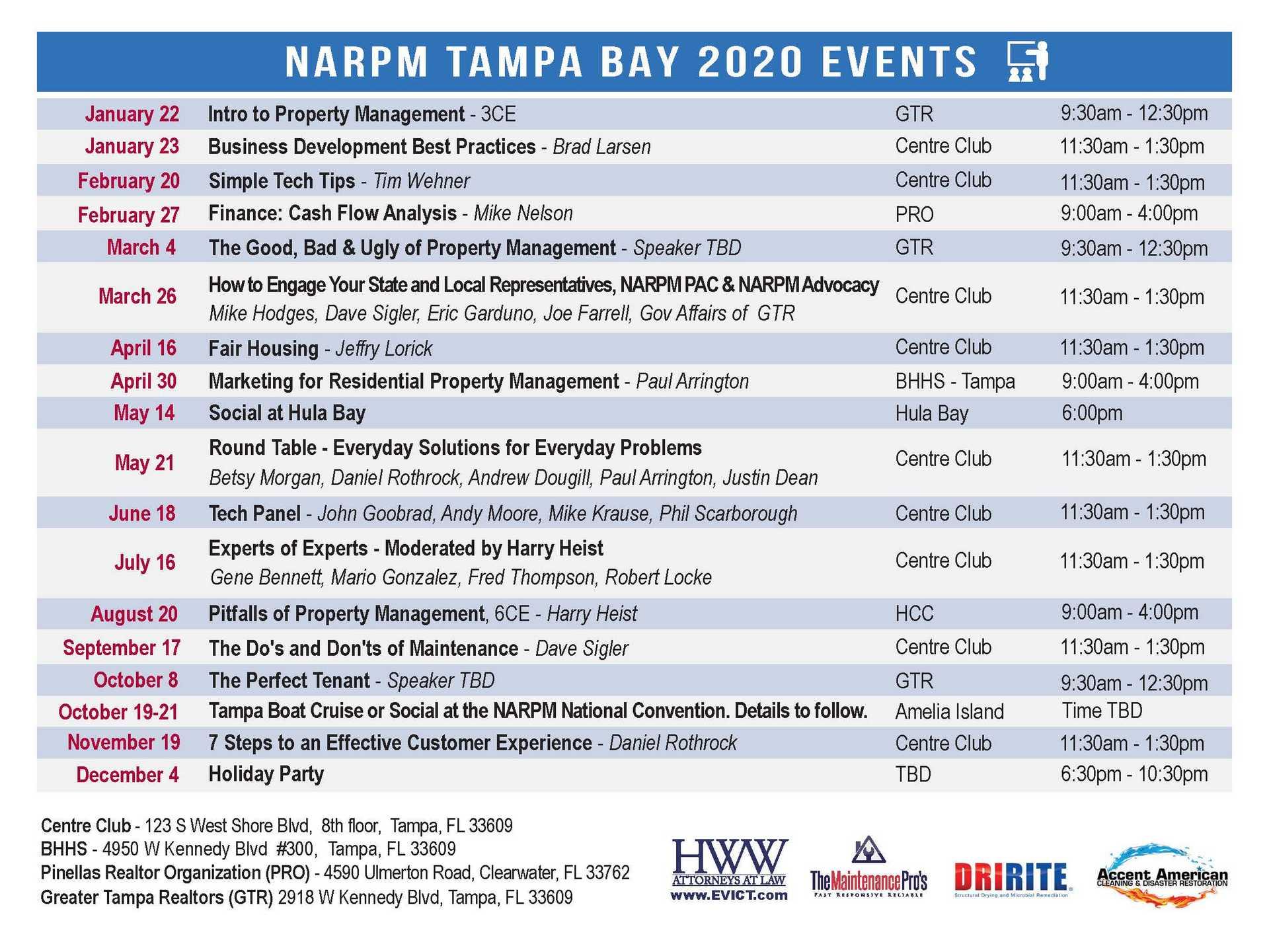 narpm tampa 2020 event postcard